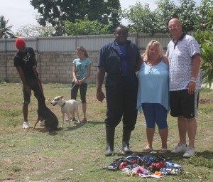 UK visitors with gifts for RSPCA