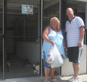 UK visitors at RSPCA Barbados