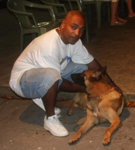 Adrian and his Belgium Shepherd Dog