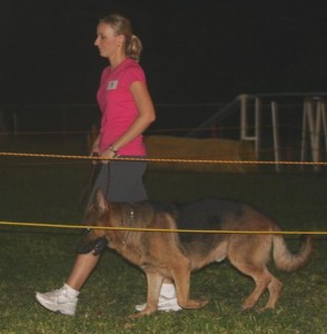 Rachel and her German Shepherd Dog