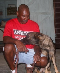 Trevor with his GSD