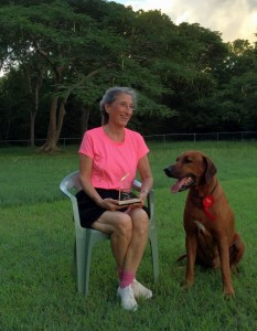 Sarah and Mac with the Utility dog training title in Barbados